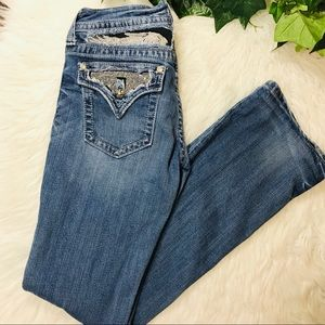 Miss Me Jeans - Miss Me Bling Angel Wing JP5010 bootcut Distressed
